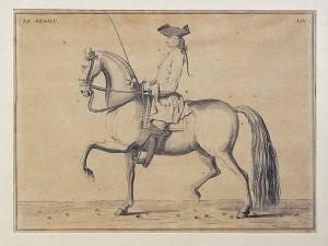 Reiter-alte-Zeichnung
